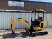 2019 JCB 18Z-1 MINI EXCAVATOR 130 HOURS EXTENDING TRACKS AND QUICK HITCH